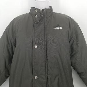 Vintage Grey Adidas puffer youth XL winter coat